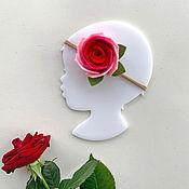 Работы для детей, handmade. Livemaster - original item Headband Red flower out of felt. Handmade.