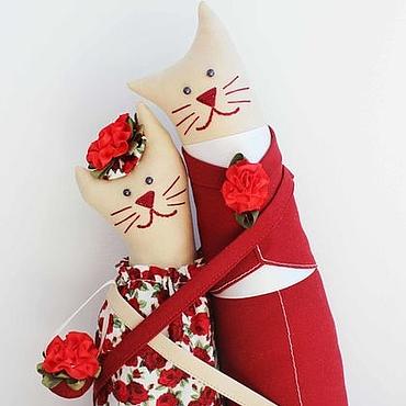 """Куклы и игрушки ручной работы. Ярмарка Мастеров - ручная работа Коты - обнимашки """"Поддержка и Любовь"""". Handmade."""