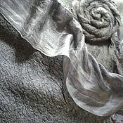 Аксессуары ручной работы. Ярмарка Мастеров - ручная работа палантин цвета антрациит. Handmade.