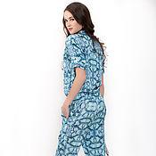 Одежда handmade. Livemaster - original item Comfortable jumpsuit with elastic print Ksenia Knyazeva. Handmade.