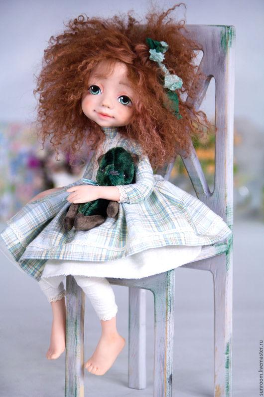 """Коллекционные куклы ручной работы. Ярмарка Мастеров - ручная работа. Купить Коллекционная кукла """"Марика"""". Handmade. Рыжий, стульчик"""