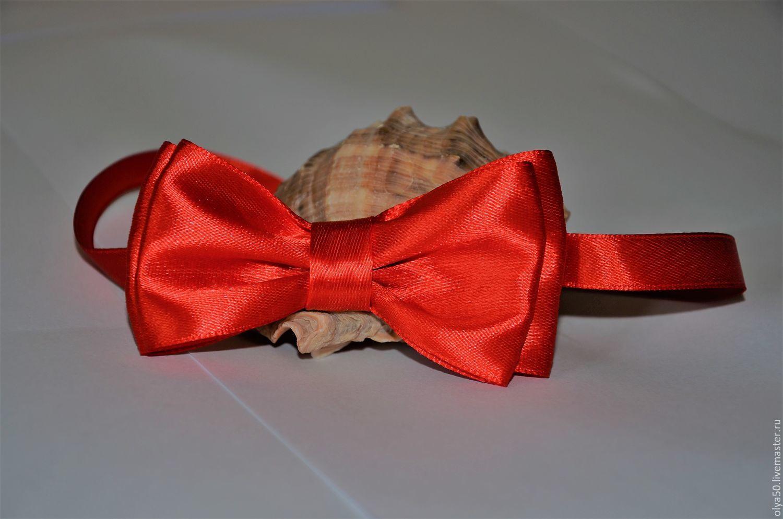 Как сделать галстук бабочку из атласной ленты своими руками для открытки