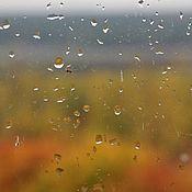Fine art photographs handmade. Livemaster - original item rainy window. Handmade.