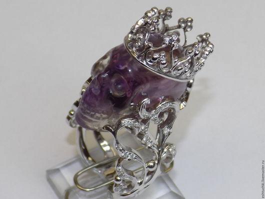 """Кольца ручной работы. Ярмарка Мастеров - ручная работа. Купить Перстень """"Власть вне времени"""". Handmade. Сиреневый, бриллианты, вечность"""