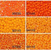 Материалы для творчества ручной работы. Ярмарка Мастеров - ручная работа Чешский бисер 10/0 Оранжевые цвета2. Handmade.