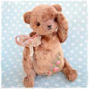 Куклы и игрушки ручной работы. Ярмарка Мастеров - ручная работа Винтажный плюшевый мишка тедди с вышивкой рококо. Handmade.