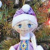 Куклы и игрушки ручной работы. Ярмарка Мастеров - ручная работа елочная игрушка Снегурочка. Handmade.