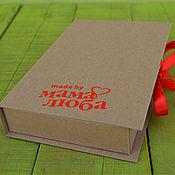 Сувениры и подарки ручной работы. Ярмарка Мастеров - ручная работа Крафт-коробочка для упаковки с Вашим логотипом (или без логотипа). Handmade.