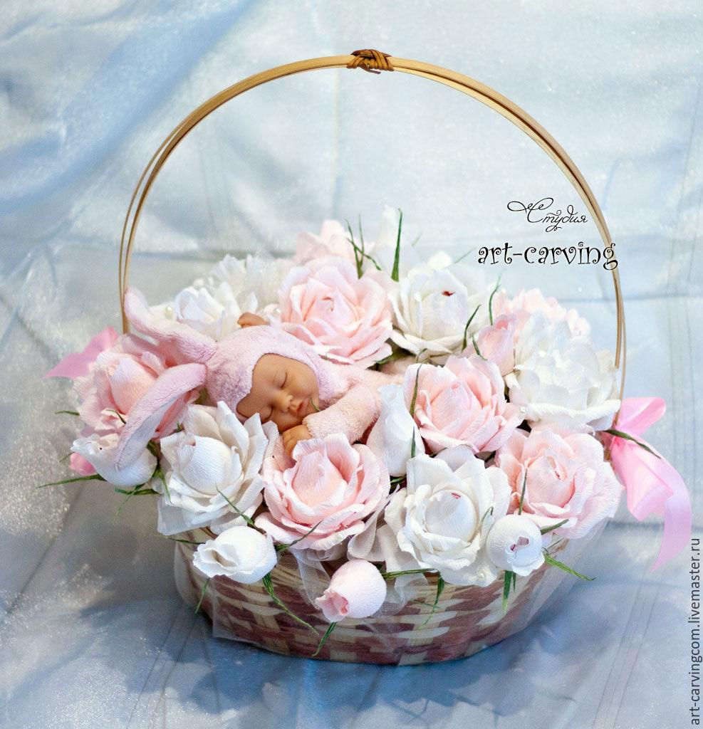 Розы с рождением дочки