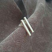 Украшения ручной работы. Ярмарка Мастеров - ручная работа Серьги-палочки из серебра, серьги минимализм. Handmade.