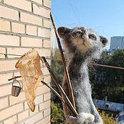 Куклы и игрушки ручной работы. Ярмарка Мастеров - ручная работа Кот по имени Шпрот). Handmade.