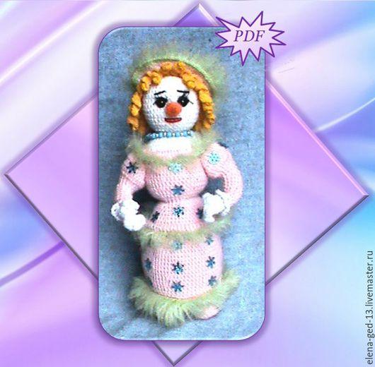 """Вязание ручной работы. Ярмарка Мастеров - ручная работа. Купить Снеговик """"ДАМА""""мастер-класс. Handmade. Комбинированный, авторская игрушка, каркас"""