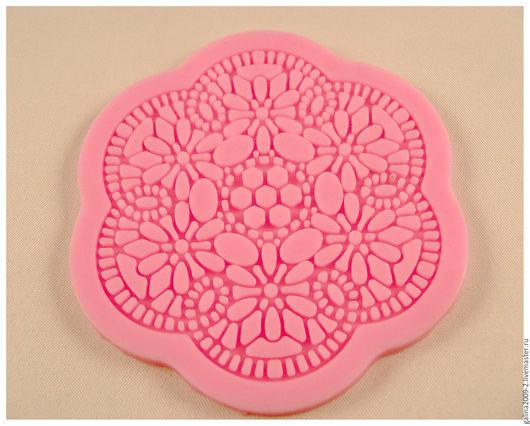 Для украшений ручной работы. Ярмарка Мастеров - ручная работа. Купить Текстурный круглый лист, 8 см.. Handmade.