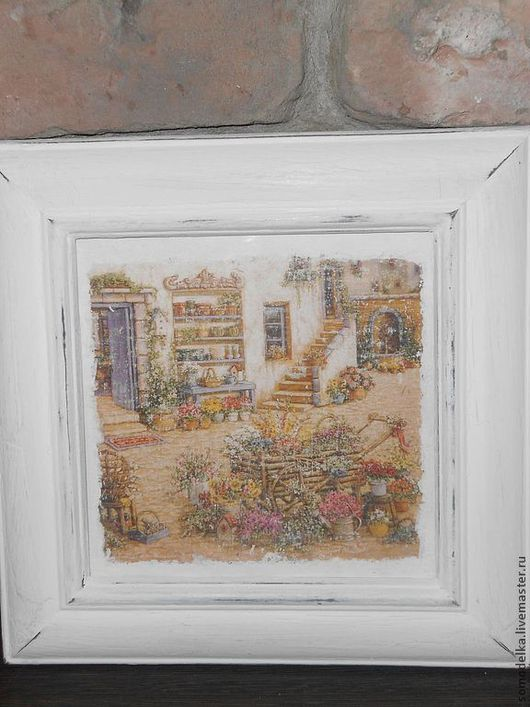 Картины цветов ручной работы. Ярмарка Мастеров - ручная работа. Купить пано цветы в саду. Handmade. Белый, дерево