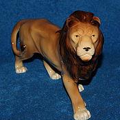 Винтаж ручной работы. Ярмарка Мастеров - ручная работа Антикварная статуэтка лев GH&Co графинталь. Handmade.