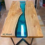 Для дома и интерьера handmade. Livemaster - original item Dining table river. Handmade.