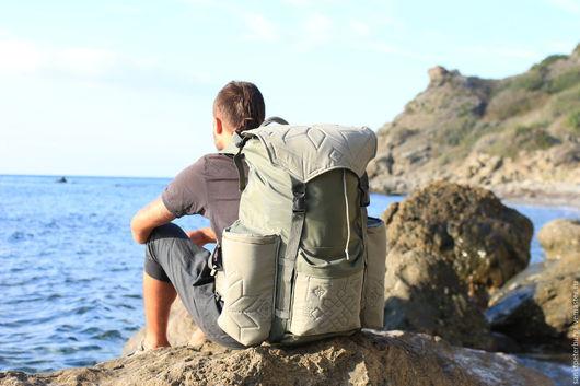 Рюкзаки ручной работы. Ярмарка Мастеров - ручная работа. Купить Туристический рюкзак в этно-стиле на 100 л. Handmade. оксфорд