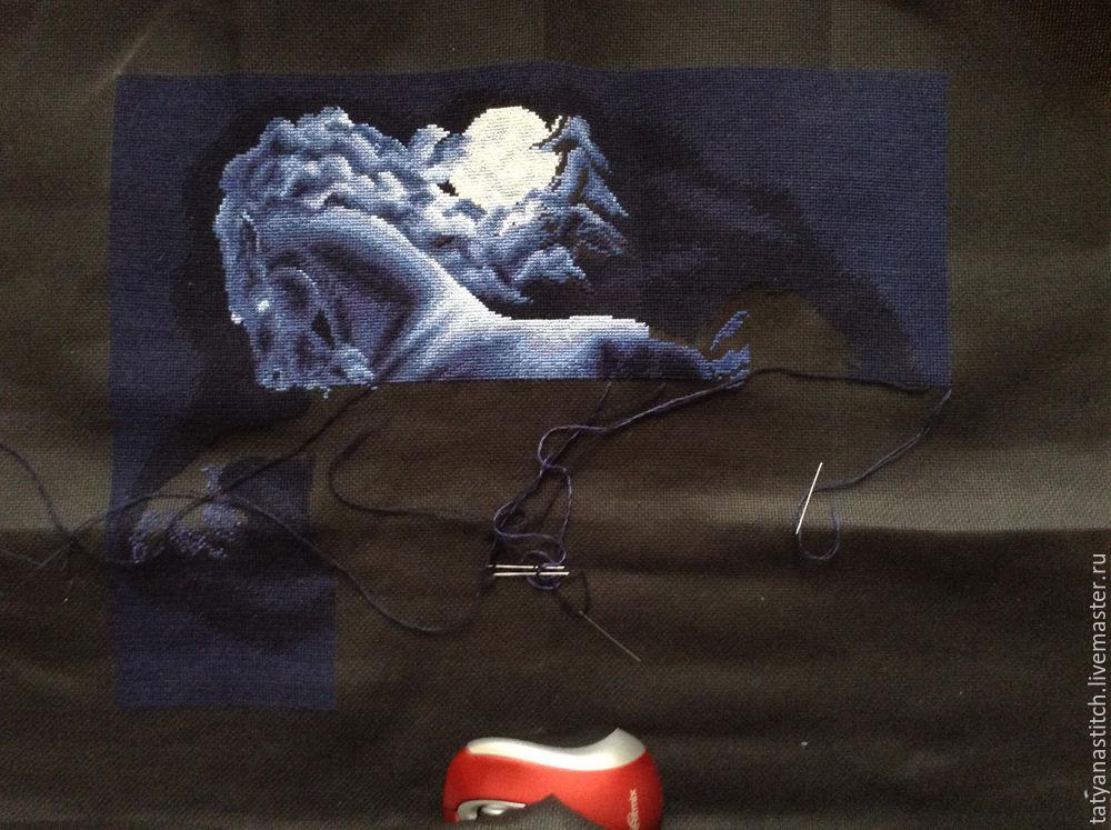 """Схема вышивки крестом """"Ночь""""."""