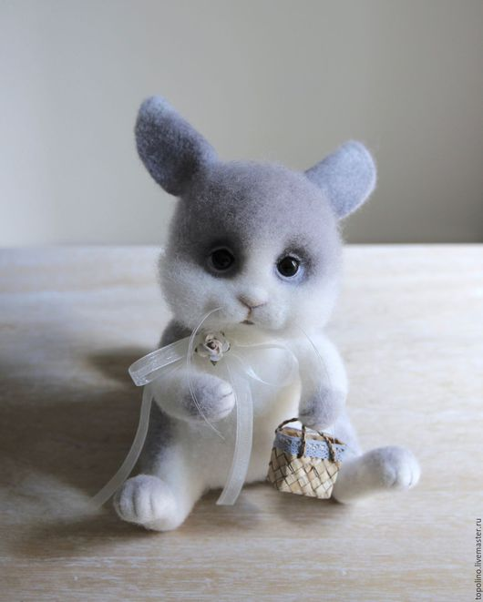 Игрушки животные, ручной работы. Ярмарка Мастеров - ручная работа. Купить Заяц-побегаец. Handmade. Белый, кролик игрушка