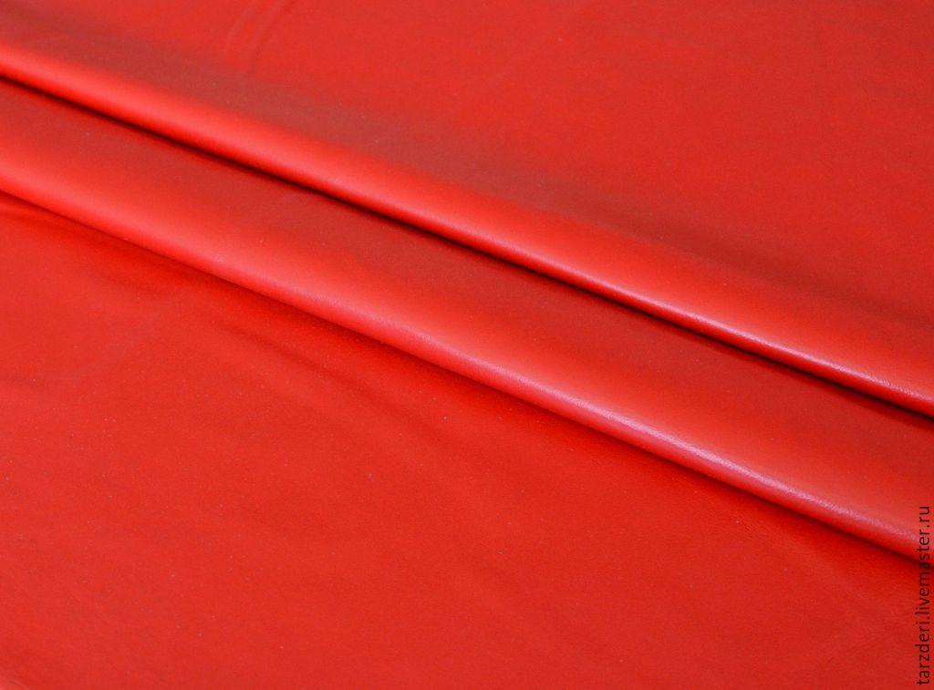 Натуральная кожа тонкая Красная 0,5 мм, Шитье, Анкара, Фото №1