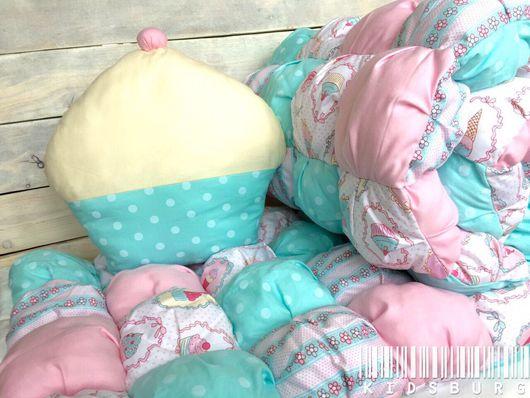 Пледы и одеяла ручной работы. Ярмарка Мастеров - ручная работа. Купить Бомбон одеяло и подушечка. Handmade. Бомбон, декор детской