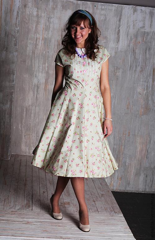 """Платья ручной работы. Ярмарка Мастеров - ручная работа. Купить Платье в стиле 50-х """"А-ля стиляги"""". Handmade."""