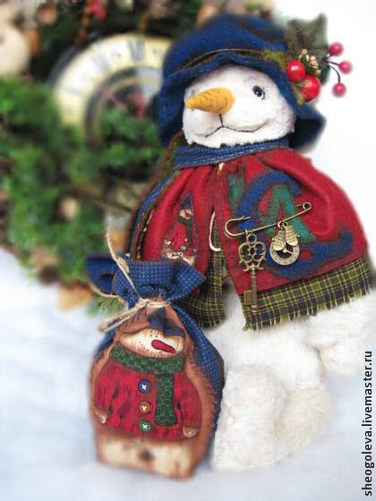 Мишки Тедди ручной работы. Ярмарка Мастеров - ручная работа. Купить Merry Christmas....!!!. Handmade. Тёмно-синий
