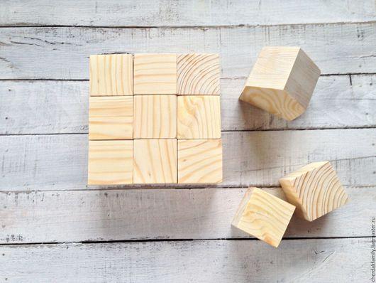 Развивающие игрушки ручной работы. Ярмарка Мастеров - ручная работа. Купить Деревянные кубики для детей. Handmade. Бежевый, кубик