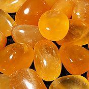 Материалы для творчества handmade. Livemaster - original item Calcite honey (tumbling extra) Mexico. Handmade.
