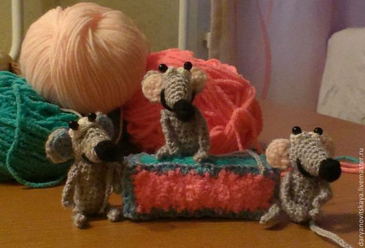 Игрушки животные, ручной работы. Ярмарка Мастеров - ручная работа. Купить Вязаный мышонок. Handmade. Серый, игрушка, дом, мышка