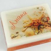 Косметика ручной работы. Ярмарка Мастеров - ручная работа Мыло Анапа, оранжевые ракушки, в подарочной коробочке. Handmade.