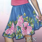 """Одежда ручной работы. Ярмарка Мастеров - ручная работа Батик юбка """"Летний вечер"""". Handmade."""