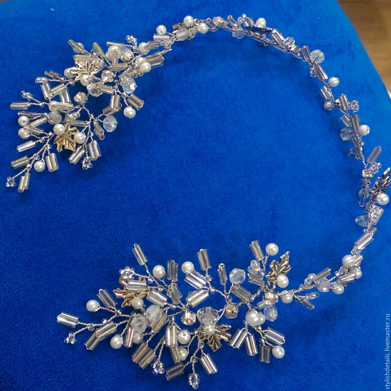 Wedding wreath. tiara, Bridal Tiara, St. Petersburg,  Фото №1