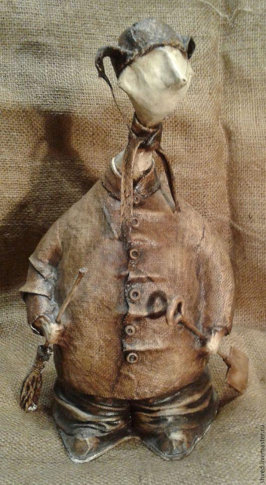 """Коллекционные куклы ручной работы. Ярмарка Мастеров - ручная работа. Купить """"Дворник Матвей"""". Handmade. Разноцветный, колекционная кукла, бумага"""