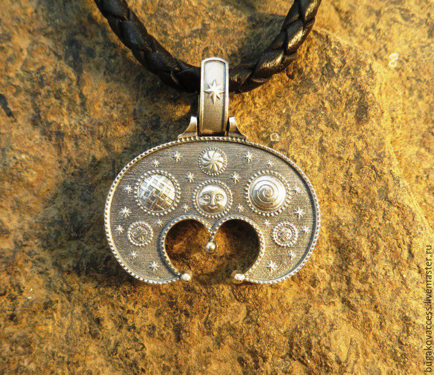 Talisman/Pendant Lunnitsa from of silver 925, Pendants, Moscow,  Фото №1