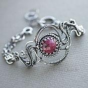 Украшения handmade. Livemaster - original item Ruby Flower - Organic Style Silver Wire Wrapped Bracelet. Handmade.