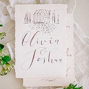 Свадебный салон ручной работы. Ярмарка Мастеров - ручная работа Набор свадебной полиграфии. Handmade.