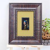"""Картины ручной работы. Ярмарка Мастеров - ручная работа """"Девушка с жемчужной сережкой"""". Handmade."""