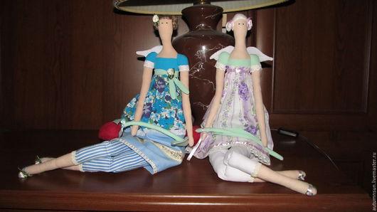 Куклы Тильды ручной работы. Ярмарка Мастеров - ручная работа. Купить Ангел. Handmade. Комбинированный, кукла в подарок, одежда хлопок