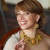 Украшения handmade. Livemaster - original item Necklace and earrings of beaded ART.30644. Handmade.