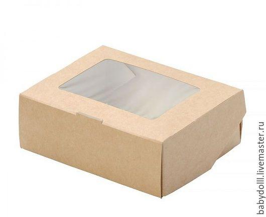 Упаковка ручной работы. Ярмарка Мастеров - ручная работа. Купить Коробка Крафт с окном универсальная.. Handmade. Коричневый, крафт упаковка