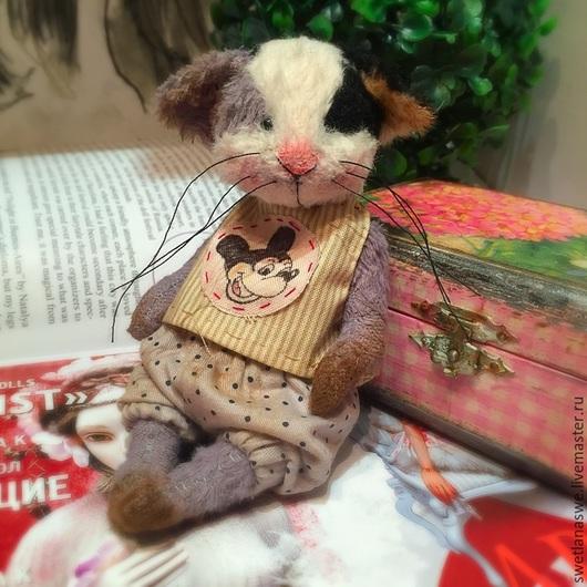 Мишки Тедди ручной работы. Ярмарка Мастеров - ручная работа. Купить Mr. G. Handmade. Коричневый, мишка, кот, вискоза