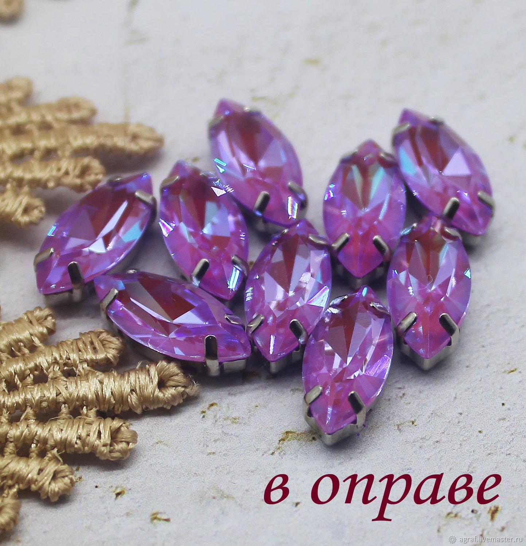 Rhinestones in a frame 15h7 mm Orchid, Rhinestones, Solikamsk,  Фото №1