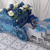 """Свадебный салон ручной работы. Ярмарка Мастеров - ручная работа Свабедная казна для денег """"Карета для принцессы"""". Handmade."""