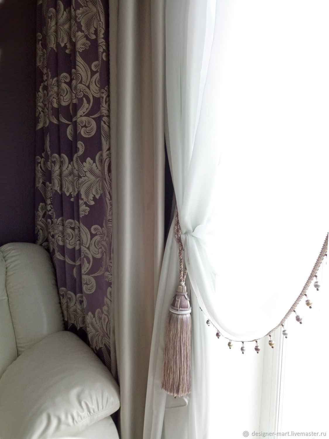 Lilac Curtains Designer Mart