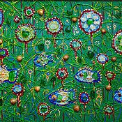 Картины и панно handmade. Livemaster - original item A relief picture. Megapolis. Handmade.