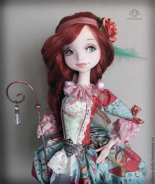 Коллекционные куклы ручной работы. Ярмарка Мастеров - ручная работа. Купить Мирабель. Handmade. Морская волна, ЛивингДолл, трикотаж