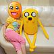 Сказочные персонажи ручной работы. Adventure Time Джейк большой (80 см). Тамара Никитина (Флисовый Уголок). Интернет-магазин Ярмарка Мастеров.