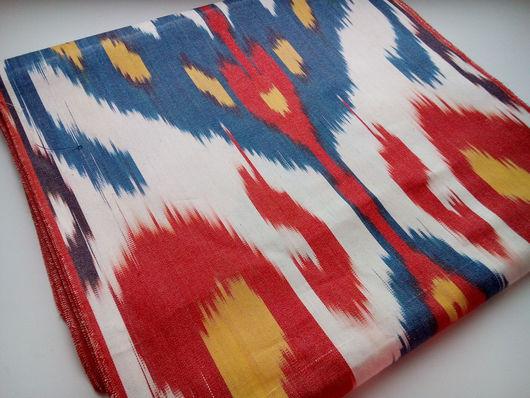 Шитье ручной работы. Ярмарка Мастеров - ручная работа. Купить Ткань ручного ткачества Икат. Handmade. Икат, узбекский хлопок