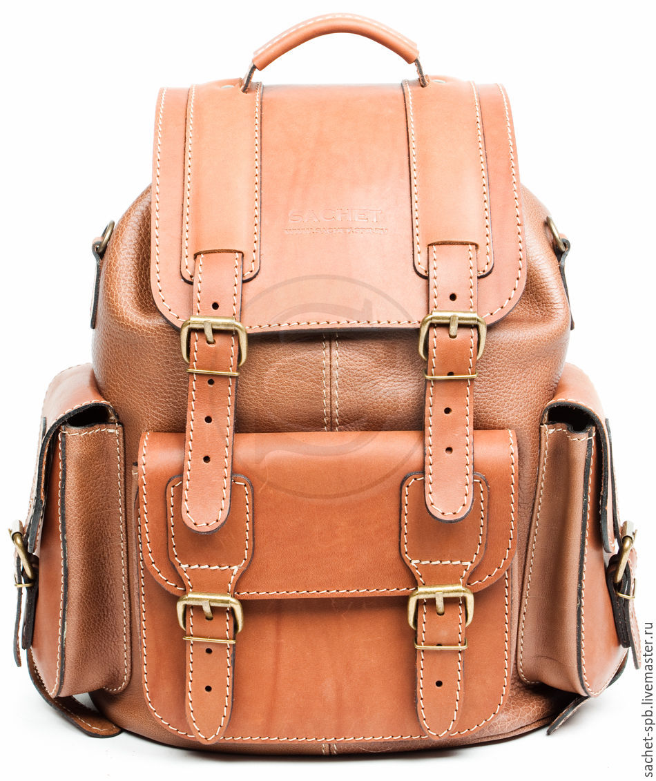 Рюкзак коричневый кожаный скутек рюкзак